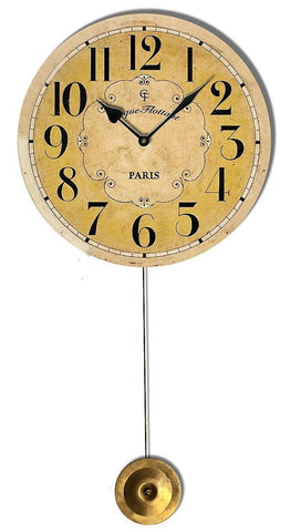 Cream Cirque Flottant Pendulum Wall Clock