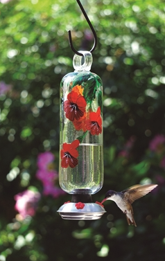 Filigree Clear Botanical Hummingbird Feeder