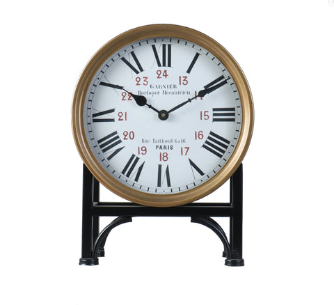 Garnier Bronze Mantel Clock