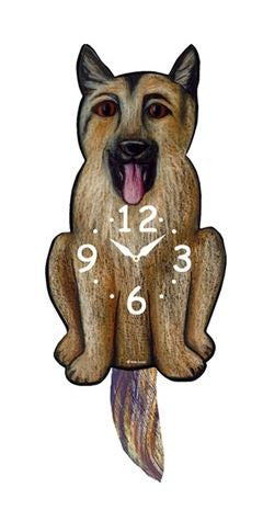 German Shepard Pendulum Wall Clock