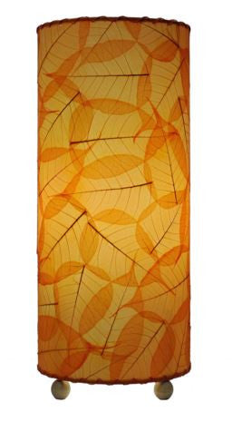 Orange Banyan Real Leaves, Fair-trade, Sustainable, Table Lamp