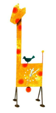 Giraffe Yellow Wall Clock