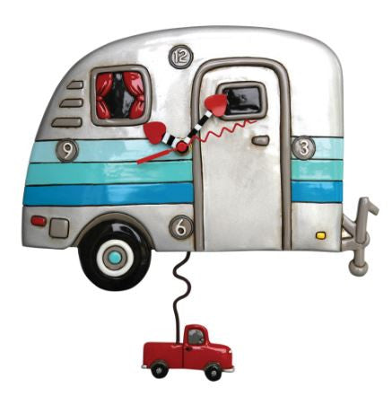 Happy Campers Pendulum Wall Clock