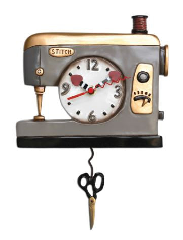 Back Stitch Pendulum Wall Clock