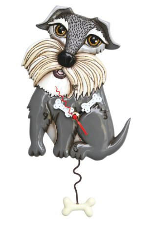 Lucy Dog Pendulum Wall Clock