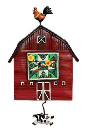 Barn Yard Pendulum Wall Clock