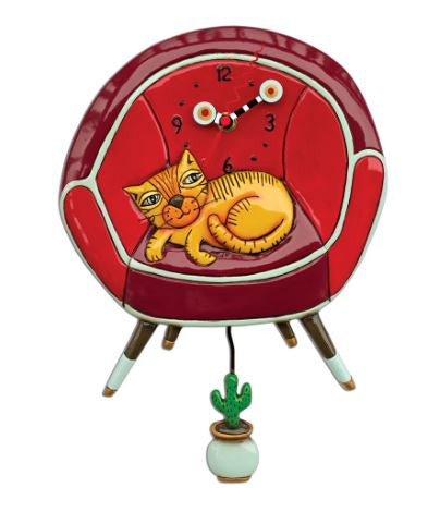Cool Cat Pendulum Wall Clock