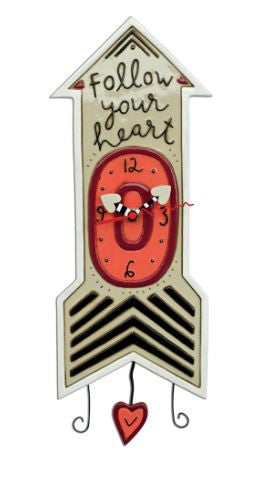 Follow Your Heart Pendulum Wall Clock