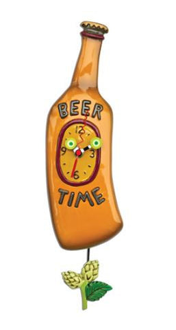 Beer Time Pendulum Wall Clock