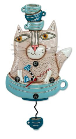 TeaCat Pendulum Wall Clock