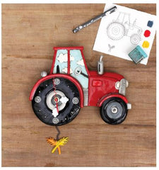 Tractor Time Pendulum Wall Clock