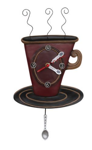 Cozy Cafe Pendulum Wall Clock