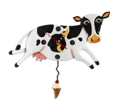 Bessy Cow Pendulum Wall Clock