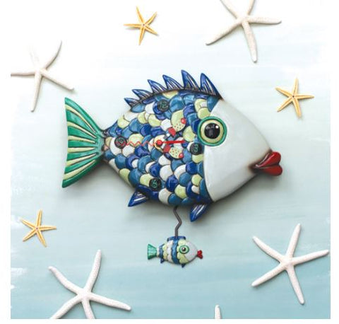 Fishy Lips Pendulum Wall Clock