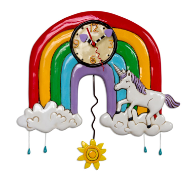 Rainbows & Unicorns Wall Clock
