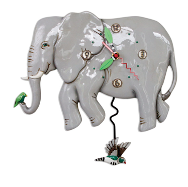 Elephant Pendulum Wall Clock