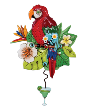 Polly Parrot Pendulum Wall Clock