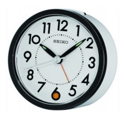White Retro Alarm Clock