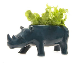 Green Blue Rhino Vase