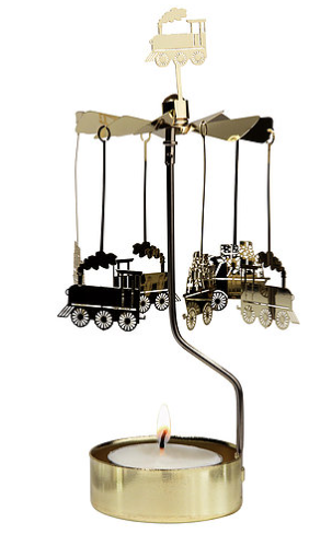 Train Rotary Candle Holder