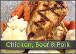 Honey Mustard Chicken & Roasted Carrots w/ Cauliflower