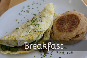 Asparagus Omelet w/ English Muffin