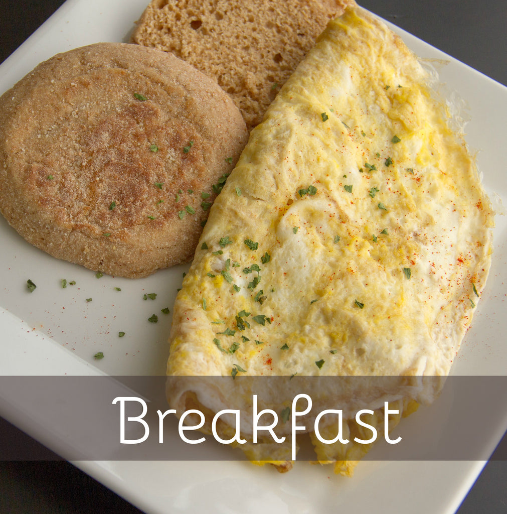 Bacon & Cheese Omelet w/ English Muffin