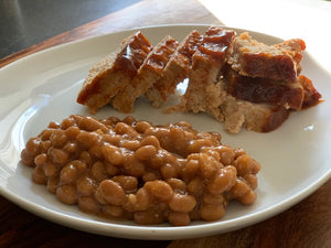 BBQ Meatloaf w. Boston Baked Beans