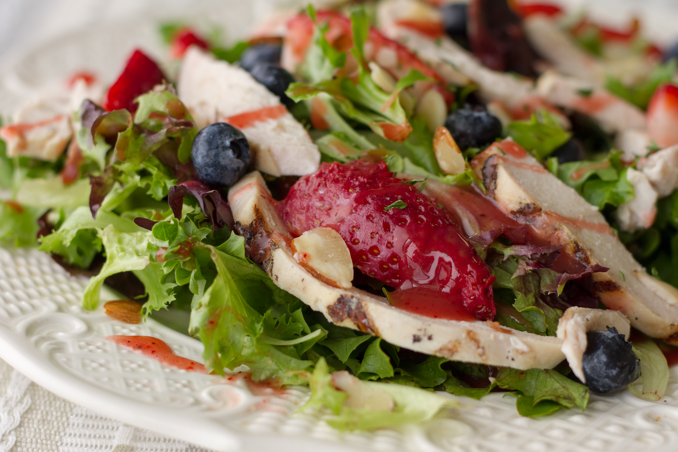 Berry Almond Chicken Salad
