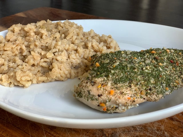 Lemon Dill Chicken & Lemon Risotto Brown Rice