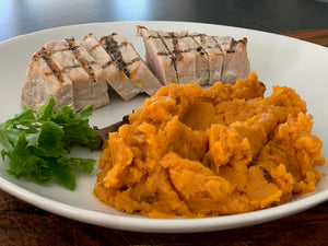 Pork Cutlet and Sweet Potato Mash