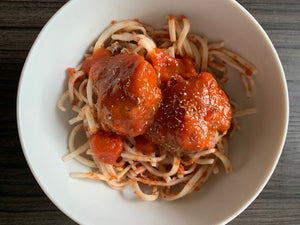 Spaghetti & Meatballs w/ Side Salad
