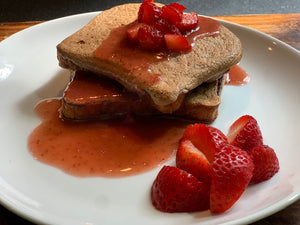 French Toast w. Strawberry Reduction
