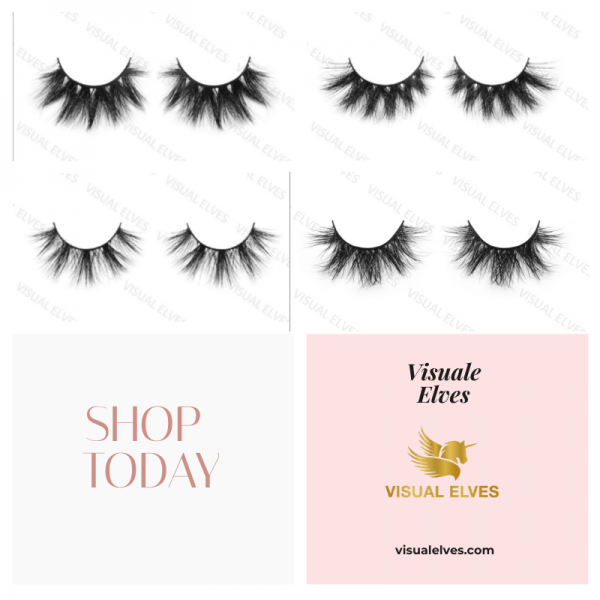 25mm mink lashes  4 Pack - X