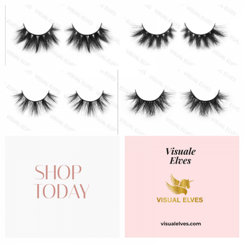 25mm mink lashes  4 Pack - X - VISUAL ELVES