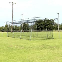 CIMARRON SPORTS- #24 BATTING CAGE NET WITH FRAME (40X12X10)