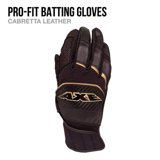 AXE BAT-  PRO-FIT BATTING GLOVES
