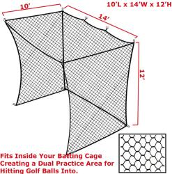 CIMARRON SPORTS- NET INSERT WITH ARCHERY BACK (10X14X12)