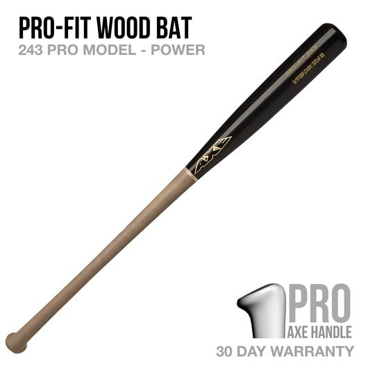 AXE BAT- PRO-FIT 243 MODEL WOOD BAT - PRO AXE HANDLE