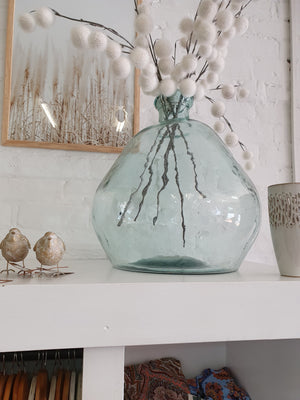 Large Shaped Glass Vase