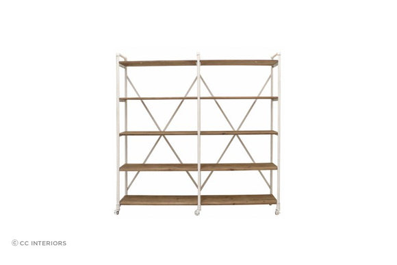 Riveria  Double Bookcase