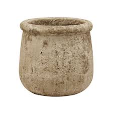 Stone Planter with Rolled Edge