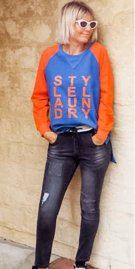 Classic Sweater Blue Orange