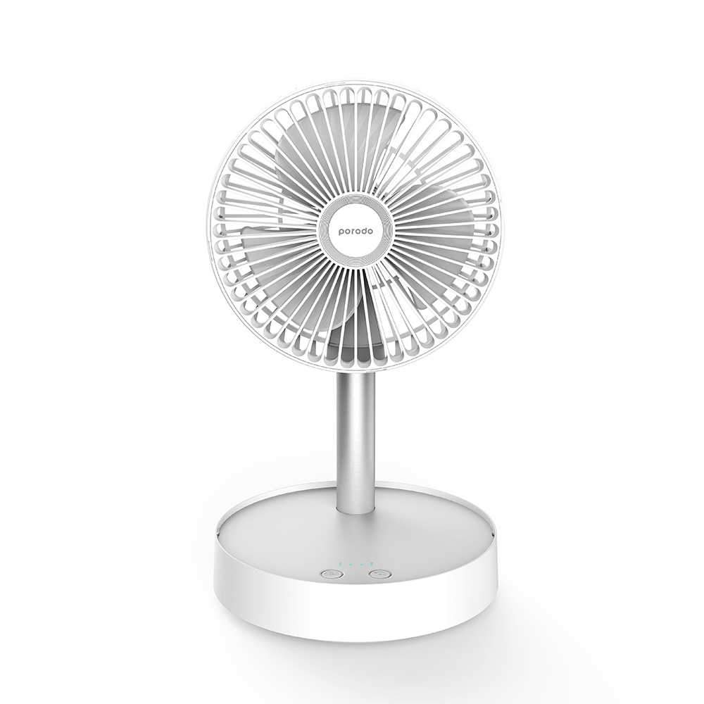 Porodo Lifestyle Portable Folding Fan 7200mAh with Remote - White