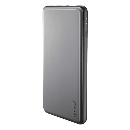 Porodo USB & Type-C Power Bank 10000mAh with Lightning Cable - Gray