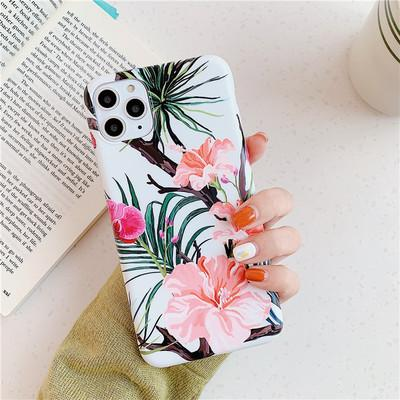 iPhone Marble Flower Case