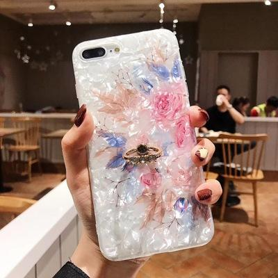 iPhone Ring Flower Case
