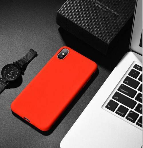 iPhone Silicone Red Case