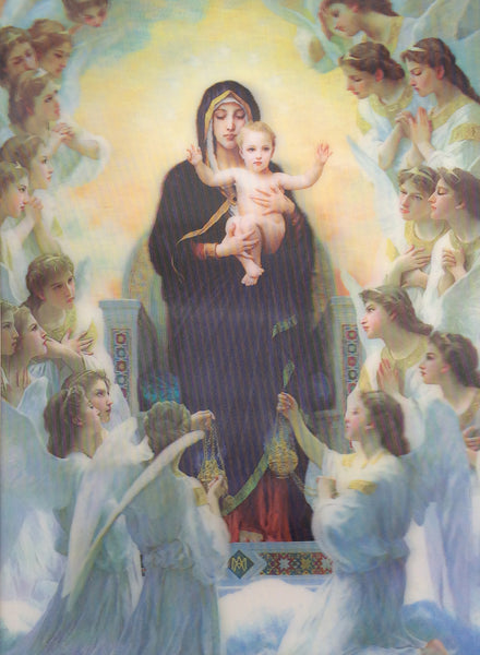 r4 religious mary jesus angels 3d picture