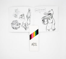 Load image into Gallery viewer, Skulltaste II Coloring Book and Colored Pencil Set
